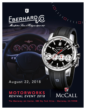 EBERHARD & CO. FINE WATCHES ON DISPLAY AT GORDON MCCALL'S MOTORWORKS REVIVAL